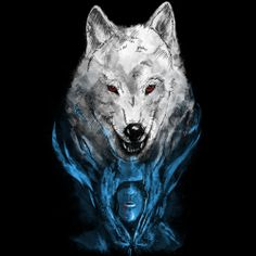 The White Wolf. T-Shirt designed by GED, available at Design By Humans #wolf #gameofthrones