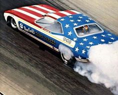 NHRA funny cars from the 1970s are just plain awesome. Here's the Damn Yankee Cuda.