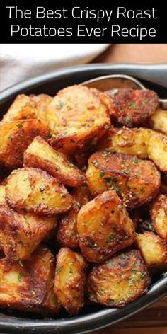 Health ideas The Best Crispy Roast Potatoes Ever Recipe - All About Health Food Recipes - All. The Best Crispy Roast Potatoes Ever Recipe - All About Health Food Recipes - All About Health Food Recipes Crispy Roast Potatoes, Garlic Roasted Potatoes, Potatoes On The Grill, Crispy Breakfast Potatoes, Breakfast Potato Recipes, Meals With Potatoes, Instapot Potatoes, Crispy Potatoes In Oven, Rosemary Potatoes