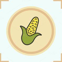Corn color icon. Vector @creativework247