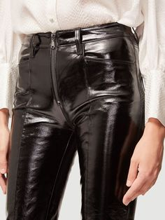 Leather Pants Outfit, Vinyl Dress, Latex Pants, Leder Outfits, Disco Pants, Shiny Leggings, Going Out Outfits, Womens Fashion, High Fashion