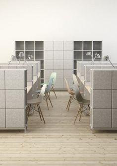 Johan Kauppi and Bertil Harström launch sound-absorbing office furniture for Glimakra Corporate Office Design, Modern Office Design, Office Furniture Design, Workplace Design, Office Interior Design, Office Interiors, Business Design, Furniture Ideas, Office Plan