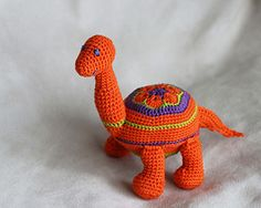 This PDF crochet pattern instructions for my original @ElvieWithLove design African Flower Dino - Diplodocus, is suited to an intermediate crochet skill level.