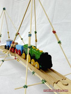 A Rubboo bridge that is used with a Brio train set, great way to learn whilst playing.