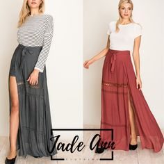 Self Tie Skirt Overlay with crochet detail Shorts under layer POLYESTER COTTON Model is tall, Chest, Waist and Hips and wearing size Small. Jade, Tie Skirt, Overlay, Rust, What To Wear, Charcoal, Shorts, Detail, Crochet