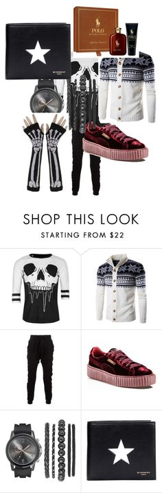 """""""emo"""" by radiuseli ❤ liked on Polyvore featuring Iron Fist, Blood Brother, Puma, Givenchy and Ralph Lauren"""
