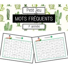 Jeu mots fréquents French Teaching Resources, Teaching French, Teaching Ideas, Grade 1 Reading, Tutoring Business, French Worksheets, Core French, Word Work Activities, French Classroom