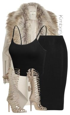 """""""Untitled #1837"""" by whokd ❤ liked on Polyvore featuring River Island, Cushnie Et Ochs, LE3NO and Roberto Cavalli"""