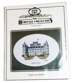 Inveraray Castle Cross Stitch Pattern Scotland  Embroidery Design Chart 1991 #HeritageStitchcraft