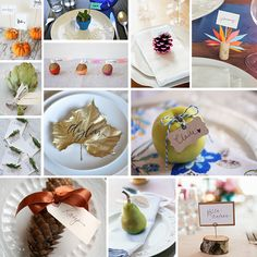 A few of our favorite ideas found on the web for seating cards for your Thanksgiving table!