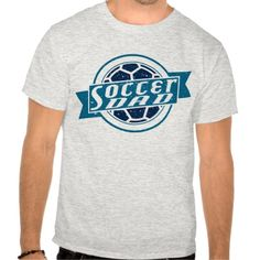 Soccer Dad Soccer Ball Design T-Shirt.  All designs are available on many styles of t-shirts and hoodies! To see more #soccer tees, please check out my store: http://www.zazzle.com/gamefacegear*/