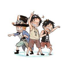 -•one piece•- The original monster trio