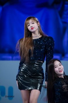 Oh My Girl Yooa, Leather Skirt, Stage, Goth, Mini Skirts, Asian, Pretty, Outfits, Bonito