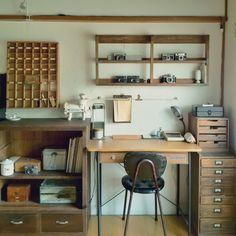 女性で、3DK、家族住まいのディスプレイ/机についてのインテリア実例を紹介。(この写真は 2012-06-12 22:50:47 に共有されました)