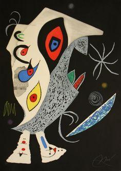 'Barbare dans la Nuit (D. 929)' by Joan Miró, 1976