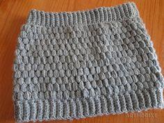 Artmorixe - Cuello a crochet en punto piña o puff