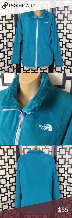 North Face Teal Morning Glory fleece jacket Excellent used condition. Looks nearly new. Fleece is not worn down and there are no stains or holes. Full front zip with two zip pockets. Color is closest to picture 4. North Face Jackets & Coats