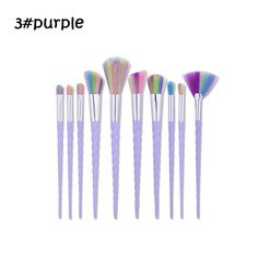 Find More Makeup Brushes & Tools Information about 10pcs/set Pro Makeup Brushes Set Foundation Blending Powder Eyeshadow Contour Concealer Blush eyebrow brush creative horn wh,High Quality makeup brush set,China brush set Suppliers, Cheap pro makeup brushes set from Gretel Intercontinental Trade Corporation on Aliexpress.com