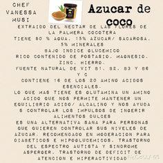 Informacion valiosa del azúcar de coco de Maria del Carmen Ceballos