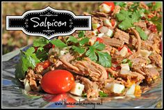 Have you ever heard of Salpicon? This delicious Mexican marinated cold brisket dish is the perfect thing to serve for a crowd.  It is super easy because it can be made in advance! via Homemade Mommy