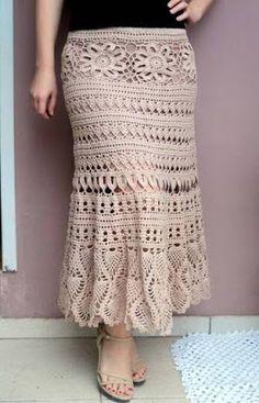 Fabulous Crochet a Little Black Crochet Dress Ideas. Georgeous Crochet a Little Black Crochet Dress Ideas. Black Crochet Dress, Crochet Skirts, Knit Skirt, Crochet Clothes, Filet Crochet, Knit Crochet, Crochet Woman, Crochet Fashion, Trendy Dresses