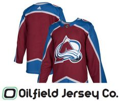 pretty nice b4965 859fe Officially Licensed - Shop for Colorado Avalanche Adidas Jersey at the Oilfield  Jersey Company Online Store.