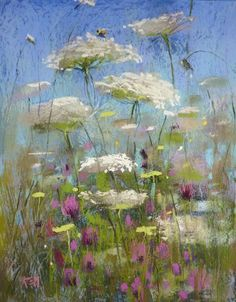 queen ann's lace flowers abstract