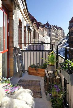 Balcony, tiny but sunny with great city scape