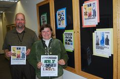 """Anthony Wynn and Angela Butsch, U. Fish and Wildlife Service, Division of Diversity and Civil Rights, Portland, Oregon. We're so glad to see that our posters for """"EveryBody"""" have made it to Portland. Portland Oregon, Civil Rights, Disability, Diversity, Division, Wildlife, Posters, America, Fish"""