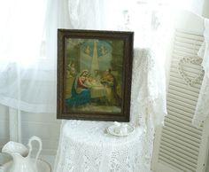 ~♡~  Shabby chic Heiligenbild, Stuckrahmen  ~♡~ von Weidenröschen auf DaWanda.com