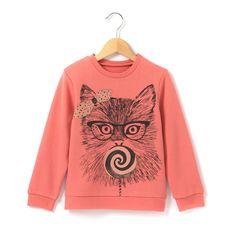 Sweat estampada motivo gato R Kids   La Redoute