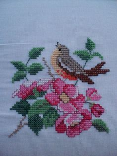 The warm weather has kept me inside a little more, and one of my favorite hobbies is cross-stitch. Funny Cross Stitch Patterns, Cross Stitch Love, Cross Stitch Borders, Cross Stitch Flowers, Cross Stitch Designs, Cross Stitching, Cross Stitch Embroidery, Hand Embroidery, Crochet Flower Patterns