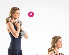Goblet Squat  http://www.womenshealthmag.com/fitness/best-leg-exercises/slide/8