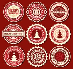 Christmas Snowflake label/badge Vector | Free Vectors Daily | Download High-Quality Free Vectors Daily