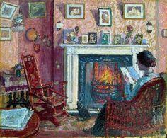 Spencer Gore - Interior, 31, Mornington Crescent, London (1910).