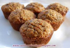 Toddler Muffins with banana, oatmeal, carrots, and sweet potato puree