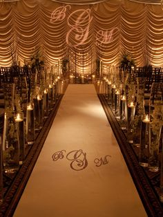 Beautiful candle lit ceremony decor