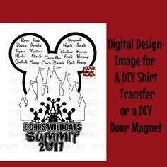 7c6e93ad26 Personalized Summit Shirt Transfer Design DIY Disney Cheerleaders Shirt DIY  Cheerleading Team Shirt Summit 2017 Cheerleading Transfer Image by ...