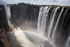 Victoria Falls, Zimbabwe and Zambia. #travel #wanderlust