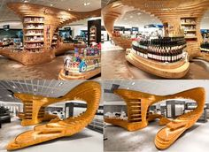Awesome Wood Furniture by Graft--that wine kiosk.