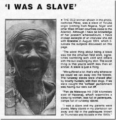 An authentic former Nigerian Slave :(