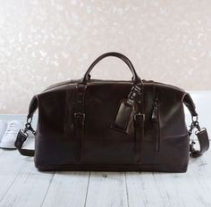 Eazo Business Travel Leather Duffle Bag - 40th birthday gifts