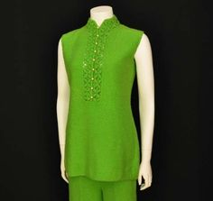 1960s st john / Apple Green Vintage 60's by Planetclairevintage, $92.00
