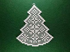 ITH ornament Choinka Haft maszynowy FSL hafty wzór koronki