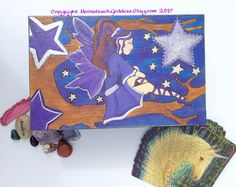 This fabulous jewellery box is ready to care for your precious items! Completely unique! I may make more similar to this, but I rather like creating individual items so you get something that nobody else has! This is made with little Lizz in mind. I would have loved to have such a box for all of my jewellery when I was younger!  I used the art of pyrography (wood burning) to draw the fairy, tree and stars onto the box. This means that its a not only a pleasure to look at, it also feels…