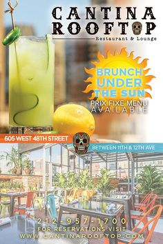 Cantina Rooftop - 605 West 48th Street (between Eleventh and Twelfth avenues) $6 margaritas happy hour 5-7