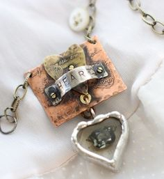 New jewelry class with Terri Brush in March  Soldered,etched metal,vintage stones