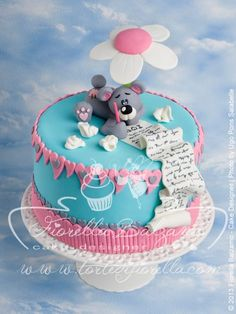 #Teddy #Bear #Love Letter #Cake