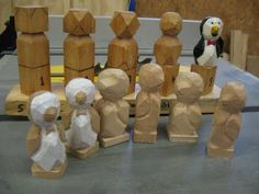The March Of The Penguins Is On! Find on Wall Tube Simple Wood Spirit Dave Brock