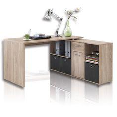 Schreibtisch - Winkelkombination - Sonoma Eiche